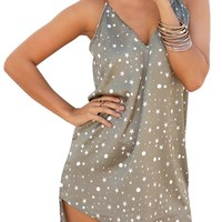 Star Sky Choker Mini Dress