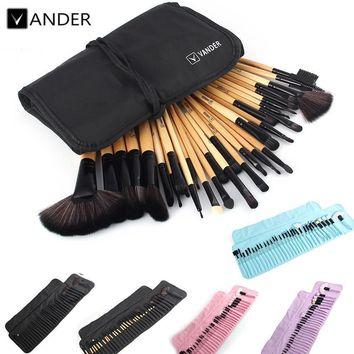 Women 32Pcs Set Professional Makeup Brush Set With Storage Bag