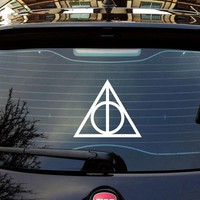 Harry Potter Deathly Hallows Vinyl Car Window Decals Stickers Pick Your Size