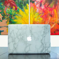 Marble Mac Cover Sticker