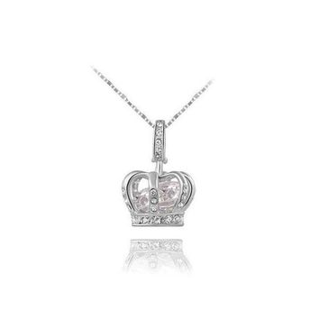 ONETOW New Arrival Shiny Gift Stylish Jewelry Crown Necklace [9281915652]