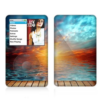 The Paradise Sunset Ocean Dock Skin For The Apple iPod Classic