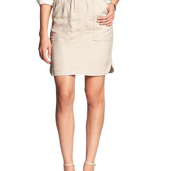 Banana Republic Womens Factory Linen Blend Mini Skirt