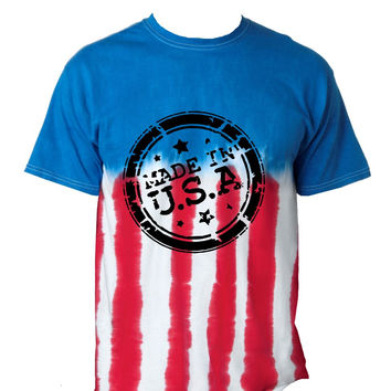 Made in USA American flag 4th of july Men's Tee shirt