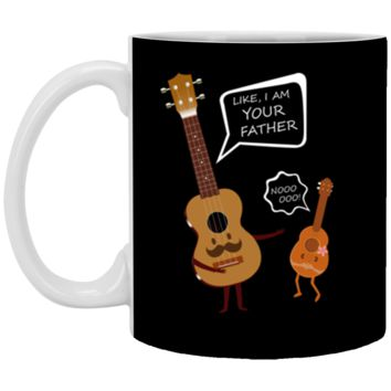 Uke I Am Your Father Ukulele Guitar Music Love Mug Coffee Mug 11 oz Mug