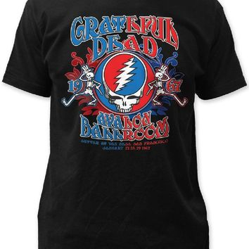 Grateful Dead Concert T-shirt - Avalon Ballroom January 27, 28, 29, 1967 San Francisco | Men's Black Shirt