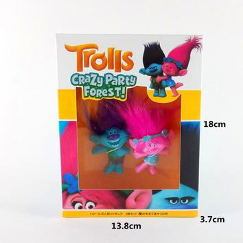2017 Trolls Anime Action Poppy Branch Plastic Vinyl Glue Model Figure Home Car Party Decoration Man/Women Gift Toy Set
