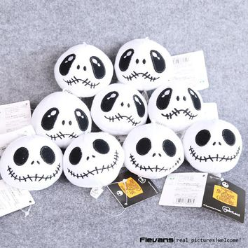 The Nightmare Before Christmas Jack Plush Toys with keychain Mini Soft Stuffed Dolls 8cm 10pcs/lot ANPT456
