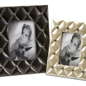 2 Picture Frames - Quilted Rhinestone