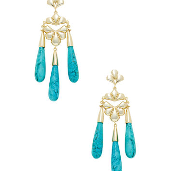 Kendra Scott Jewelry Women's Price Drop Earrings - Turquoise/Aqua