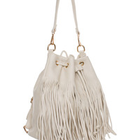 Shake It Out Fringe Purse - Ivory