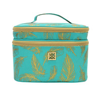 Cosmetic Case - Two-tier Farrah Teal