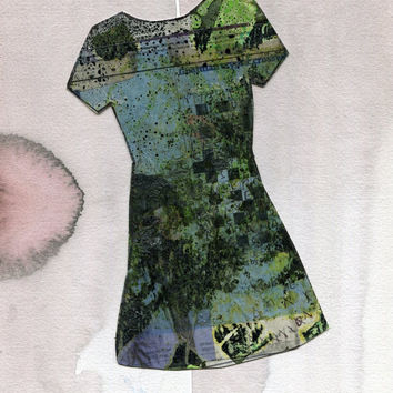 TOMORROW DRESS 1 - Original Collage Paintng - Modern Art - Contemporary Art - Fashion Style