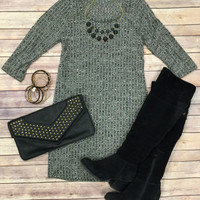 Woven Deep Tunic Dress