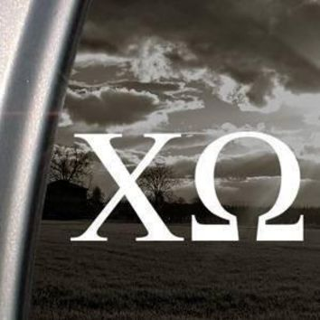 CHI OMEGA Sorority college school Car Window Vinyl Decal Sticker