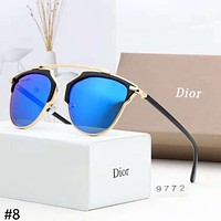 DIOR 2018 new trend gold border fashion personality aviator sunglasses #8