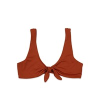 kylie front tie knot - seamless bikini top - rust