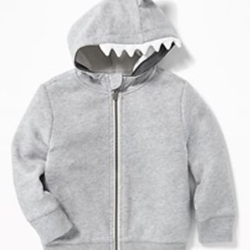 Fleece Shark Critter Hoodie for Toddler Boys|old-navy