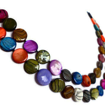 Rainbow Extra Long Shell Pearl Necklace