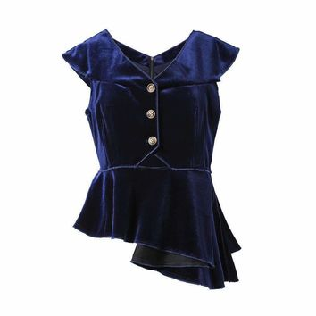Womens Velvet V-Neck Waist Coat