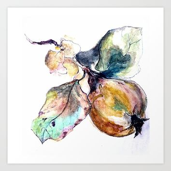 Study of a Pear Art Print by Kay Weber