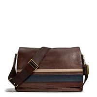 Coach :: New Bleecker Courier Bag In Debossed Painted Stripe Leather