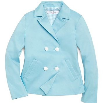 Stretch Sateen Pea Coat - Brooks Brothers