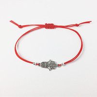 Red String Hamsa Friendship Bracelet