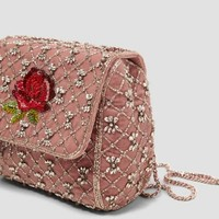 EMBROIDERED HANDBAG WITH CHAIN