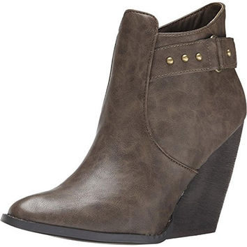 Very Volatile Womens Axle Faux Leather Round Toe Ankle Boots