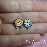 Earrings Elsa and Anna Frozen Disney - cute