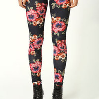 Carrie Floral Botanical Jersey Leggings
