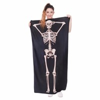 3D Skull Towel Absorbent 100% Polyester Towels Beach Towel