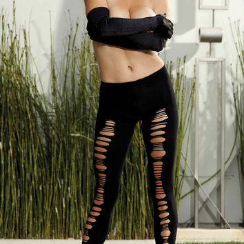 Shirley of Hollywood IS-SOH-90244 Shredded Front Leggings