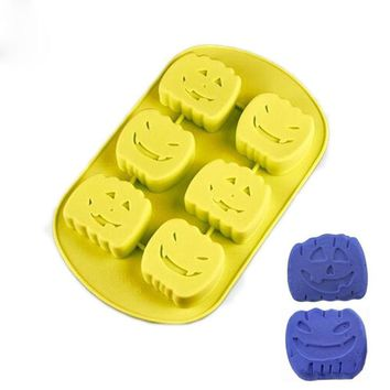 Silicone Fondant Halloween Zombie Series Pumpkin Mold For Gag Party Resin Clay Cake Decorating Tool Candy Chocolate Moulds