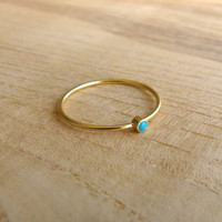 Thin Gold Ring - Delicate Gold Rings - Gemstone Ring