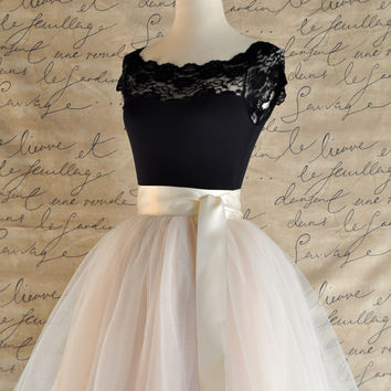 Black lace cap sleeve leotard. Matches many tutu tulle skirts at TutusChic.