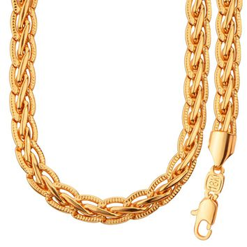 Gold Color Snake Chain Jewelry Set Trendy Chain Necklace Bracelet Set African Dubai Jewelry Men Jewelry NB60042