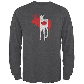 Great Canadian Moose Halftone Mens Long Sleeve T Shirt