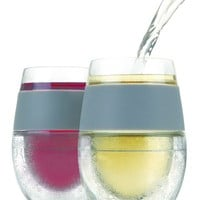 true fabrications 'FREEZE' Cooling Wine Glasses - White (Set of 2)