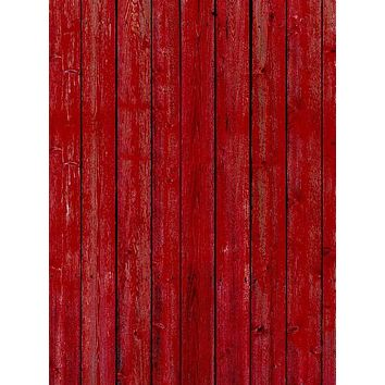 Red Barn Wood Photography Backdrop - 1078