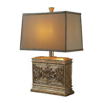 Laurel Run Table Lamp In Courtney Gold With Ria Bronze Shade And Cream Liner Courtney Gold