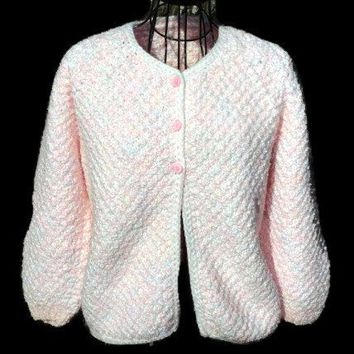 Cardigan Jacket Sweater OOAK Short Coat for Women Unique Hand Knit Ready to ship
