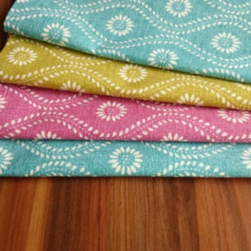 13x18'' Set of 4 Turquoise Placemats, Handmade Placemats, Table Decor, Dining Placemats,Duck Linen Placemats