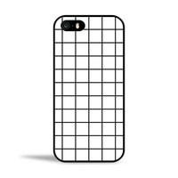 Black & White Grid Squares Case for Apple iPhone 5/5s