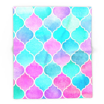 Society6 Bright Moroccan Morning Pretty Pastel Color Pa Blanket