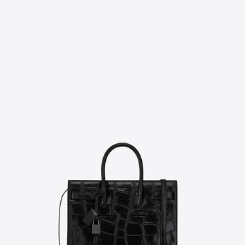 SAINT LAURENT ‎CLASSIC BABY SAC DE JOUR IN MAXI CROCODILE EMBOSSED LEATHER ‎ | YSL.COM