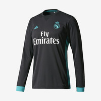Real Madrid 2017-18 Long-Sleeve Away Jersey