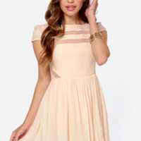 Ladakh Moondance Cutout Light Peach Dress