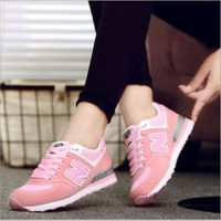 NB New Balance N word shoes breathable casual tide shoes Gump shoes running sneakers Pink